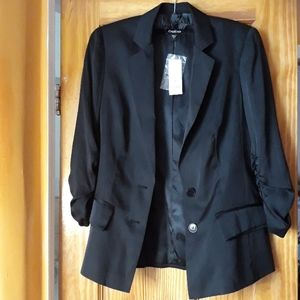 NWT Bebe Black Ruched Blazer
